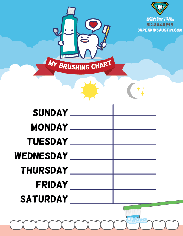 download your free tooth brushing chart