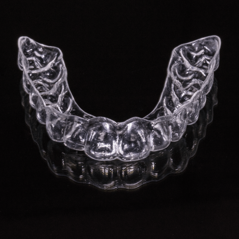 clear aligners used to straighten teeth
