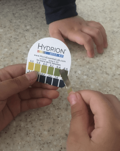xylitol experiment - testing pH after eating